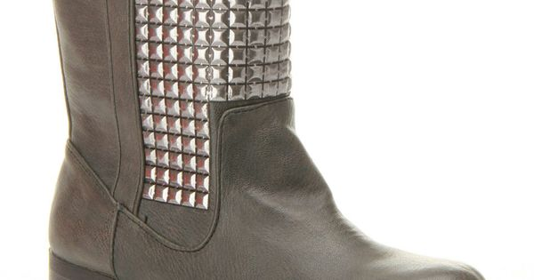 Studded Boots In Gray