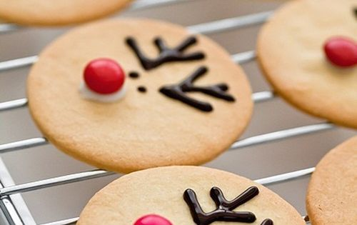 Reindeer cookie decorating idea for sugar cookies!