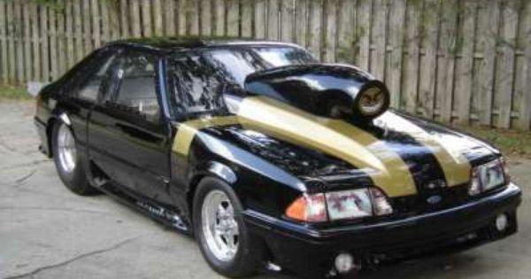 1990 Ford Mustang Drag Car Drag Cars Mustang Ford Racing