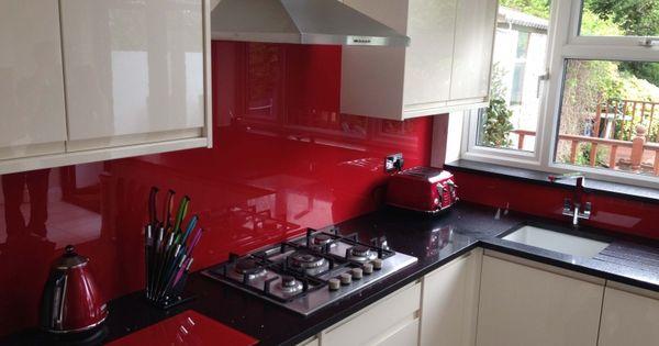 Red Glass Splashback Kitchen Accessories By Creoglass