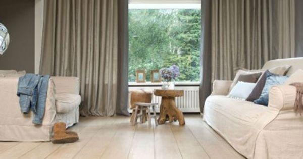 het effect van een dubbele #curtains #gordijnen plooi!http://www, Deco ideeën