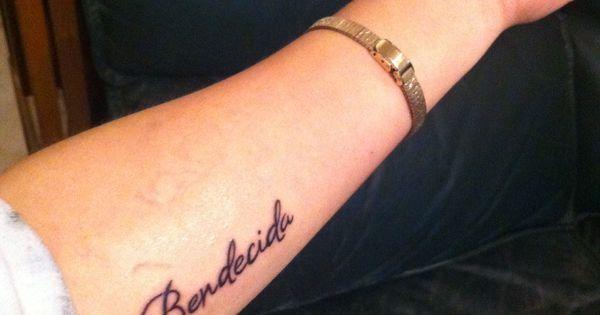 Tatuaje bendecida tattoo blessed in spanish tattoos for Tattoo in spanish