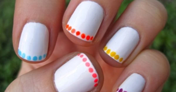 30 Amazing Dots Nail Art Ideas Nails NailArt Polka dot www.finditforweddings.com