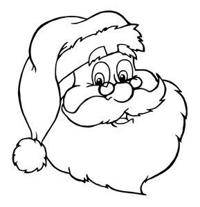 Free Santa Clipart Image Santa Coloring Page Santa Coloring Pages Christmas Colors Christmas Drawing