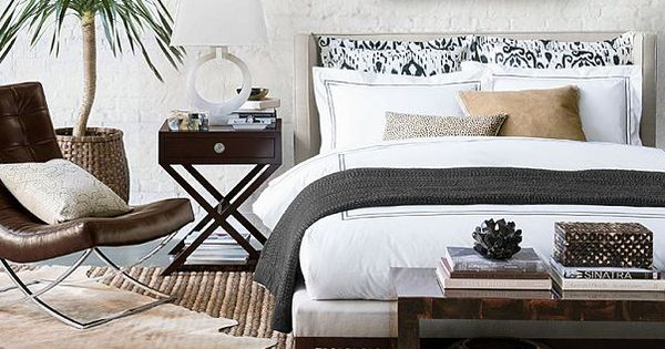 I Love The Williams Sonoma Global Style On Williams Love Lamps Love Bed And Bench