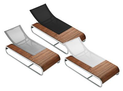 Chaise longue tandem version teck seats sofa chairs for Amazon uk chaise longue