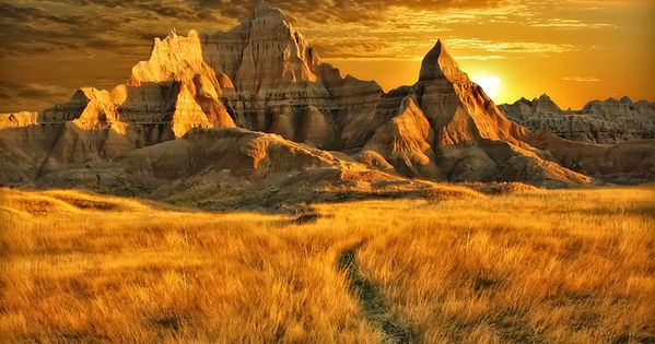 One of my all time favorite places Golden Sunset, Badlands, South Dakota