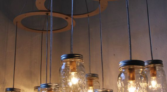 ball jar light fixtures.