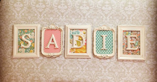 Vintage Style, Shabby Chic Picture Frames with Letters **TWO WEEK PRODUCTION TIMELINE