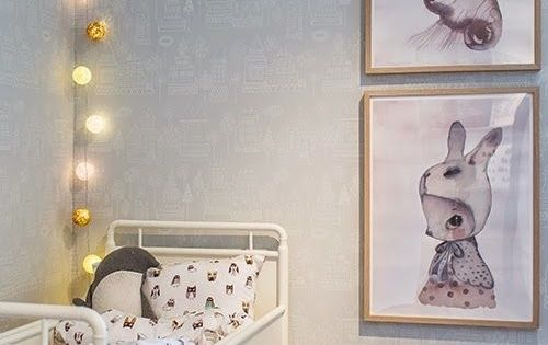 artwork, lights and the perfect tiny bed. #estella #kids #decor Baby Nursery Pinterest ...