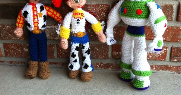 Toys Story Amigurumi : Toy Story crochet - Woody, Jessie & Buzz Amigurumi ...