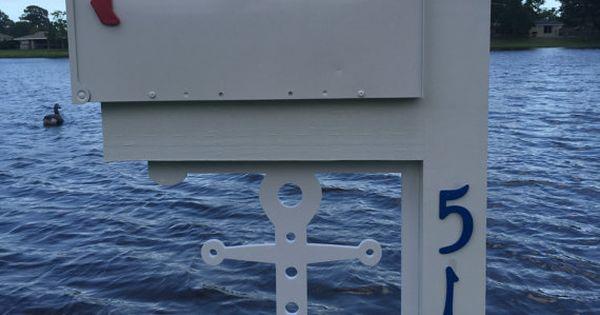 Anchor Mailbox Large Decorative Bracket Nautical By
