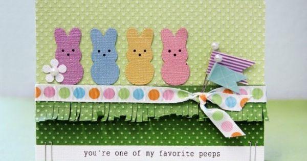 Peeps Easter card