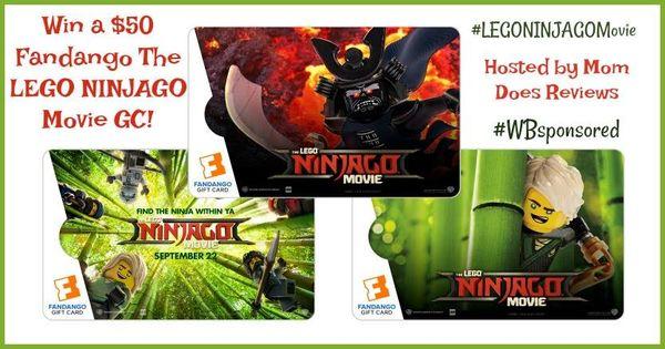 Lego Ninjago Movie Fandango 50 Gift Card Giveaway Ends 9 24