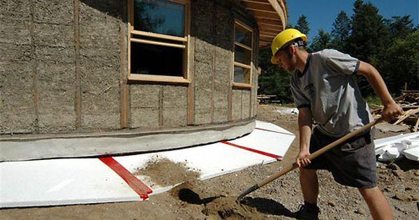 Earthbag building foundation an insulation blanket of for Basement insulation blanket