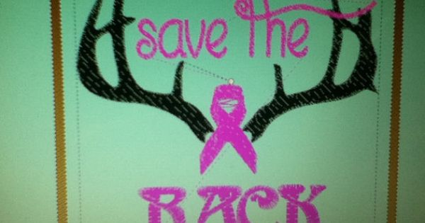 Save the rack machine embroidery design cancer awareness