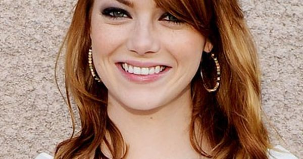 Emma Stone's Auburn Hair Color. I want my hair cut to do