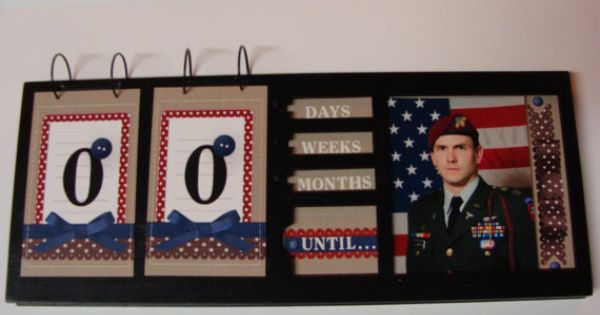 Deployment Countdown Calendar, this must be airforce. double digets.