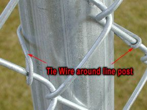 How To Chain Link Post With Tie Wire With Images Chain Link