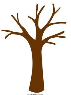 Printable Tree Trunk Brown Google Search Tree Templates Preschool Crafts Fall Tree Art