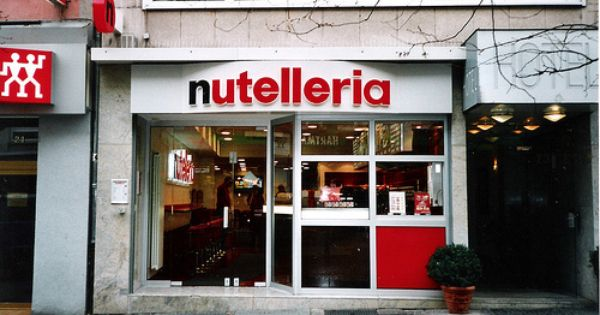 Is this real life? Nutella bakery located in Bologna, Italy.