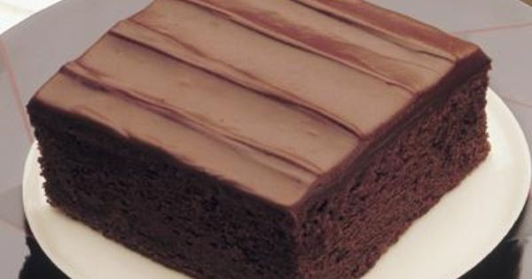 Hershey's sour cream chocolate cake with fudge frosting - one can never