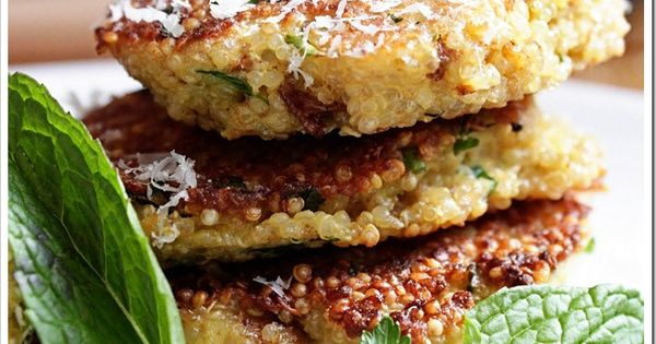 Spring herb quinoa patties. Sounds yummy!