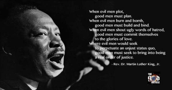"""""""When evil men plot, good men must plan. When evil men"""