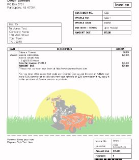 Lawn Care Invoice Lawn Care Business Lawn Mowing Business Lawn