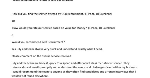 a first class recruitment service - thank you for the job offer