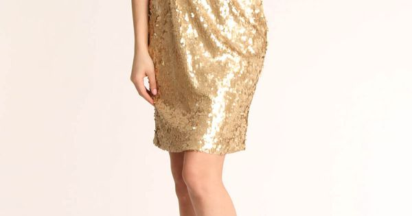 Sequin One Shoulder Dress. Love it! if i was to dress up