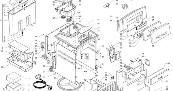 gaggia titanium parts diagram part diagrams pinterest. Black Bedroom Furniture Sets. Home Design Ideas