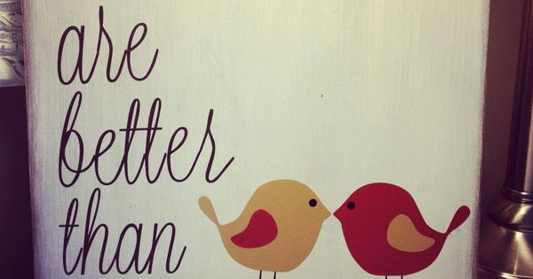 Cute sign - love birds theme.