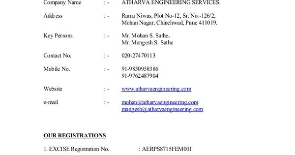 services about company name atharva engineering introduction - company introduction letter format