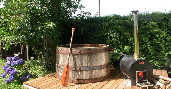 Bain nordique avec chauffe eau bois id es r novation maison ambiance cha - Fabriquer bain nordique ...