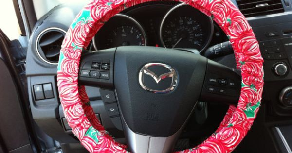 steering wheel cover made with lilly pulitzer fabric on etsy car accessories. Black Bedroom Furniture Sets. Home Design Ideas