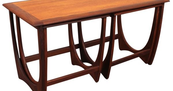 Set Of Three Teak Nesting Tables By G Plan 20th C