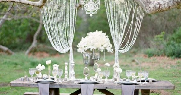 gorgeous outdoor wedding picnic table set up idea beautiful