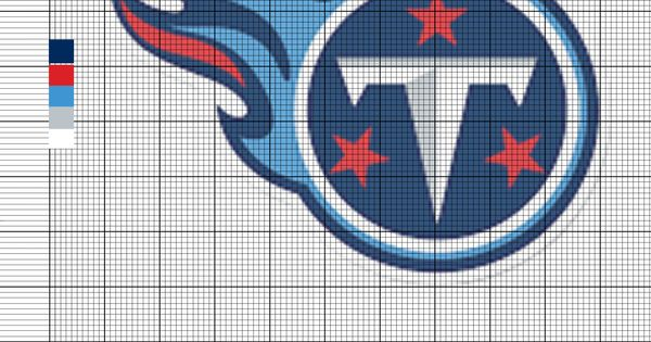 Tennessee Titans Nfl Logo Cross Stitch Pattern Cross