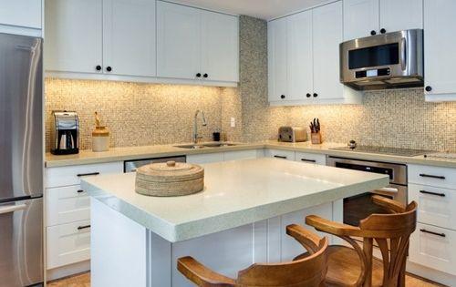 Cocinas peque as en forma de l ideas para el hogar - Cocinas pequenas en forma de l ...