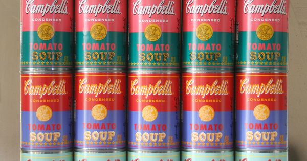 Campbell's Tomato Soup Andy Warhol limited edition cans.