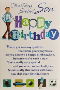 Birthday Cards For Sons Son Birthday Card Code Son 22 Sorry This