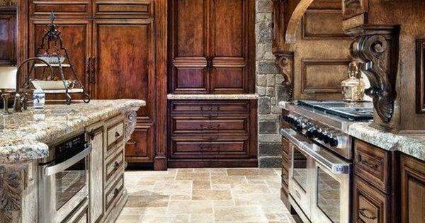 Old world kitchen | Tuscan style | Pinterest | Cabinets ...