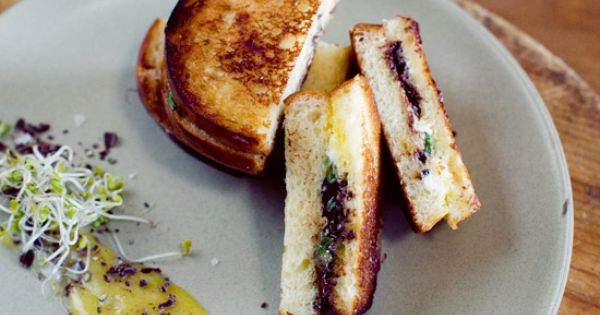 Brioche and Chocolate Grilled Cheese Sandwich recipe