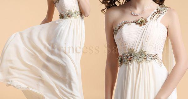 Shruthi In A Dreamy One Shoulder Pronovias Dress: One Shoulder Elegant Evening Dress Appliques Flower