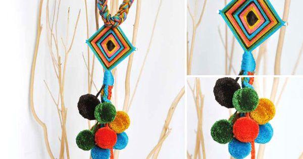 Como hacer collares wayuu buscar con google collares - Como hacer borlas de hilo ...