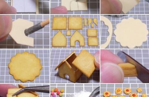 Bijoux gourmands fimo pinterest maisons en pain d - Maison en pain d epice fimo ...