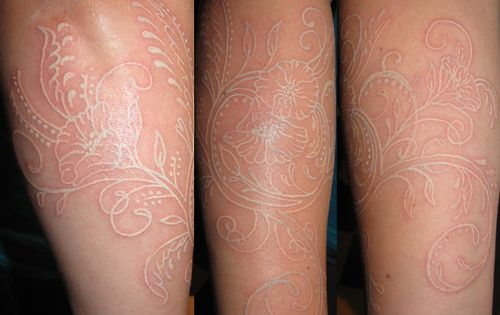 White ink tattoos. Why cant I find someone to do a white