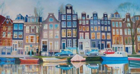 Schilderij huis google zoeken naieve schilderijen pinterest landschap schilderijen en for Schilderij huis voorgerecht