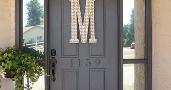 Love the crown molding for extra curb appeal, and the giant monogram